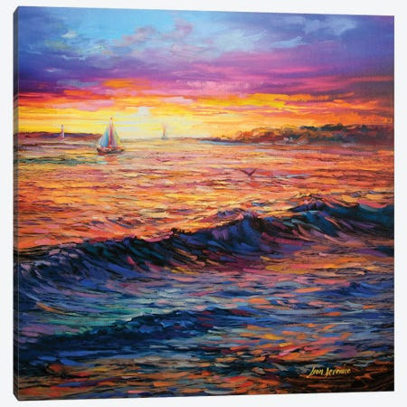 Sunset Embrace Canvas Print #DVI81} by Leon Devenice Canvas Print