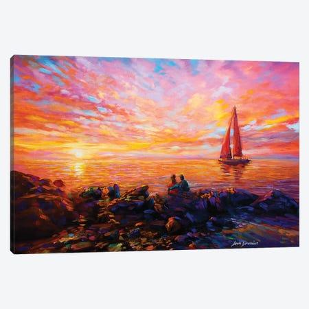 Sunset Melody Canvas Print #DVI82} by Leon Devenice Art Print