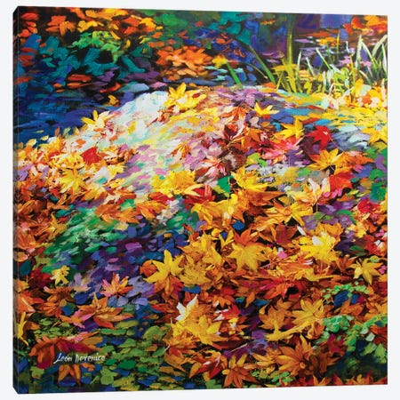 The Autumn Leaves Of Red And Gold Canvas Print #DVI86} by Leon Devenice Canvas Artwork