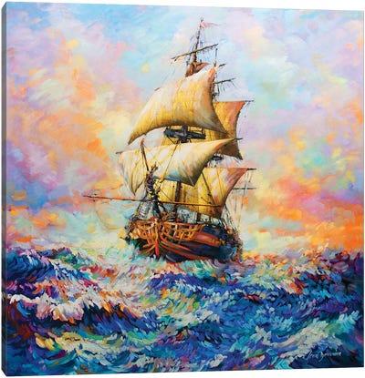 The Captain's Story Canvas Art Print