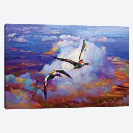 Above Clouds Canvas Print #DVI8} by Leon Devenice Canvas Print