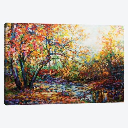 The Hidden Bridge Canvas Print #DVI91} by Leon Devenice Canvas Art