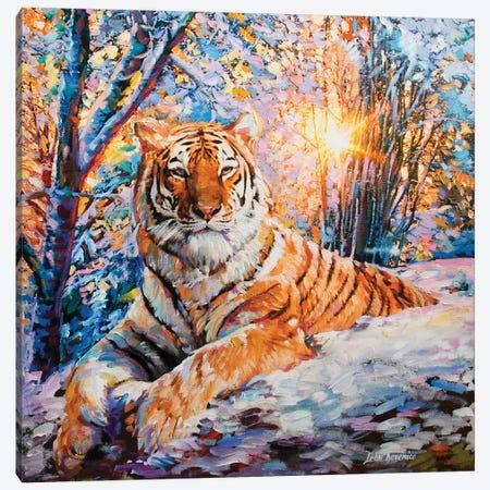 Tiger Prince Canvas Print #DVI95} by Leon Devenice Art Print