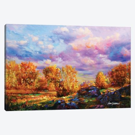 Tints Of Autumn Canvas Print #DVI96} by Leon Devenice Canvas Art Print