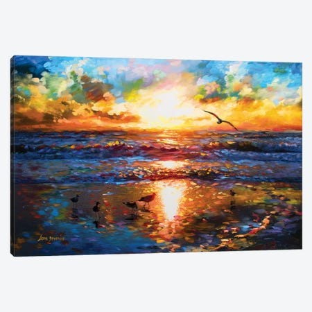 Toward The Sea Of Freedom 3-Piece Canvas #DVI98} by Leon Devenice Canvas Artwork