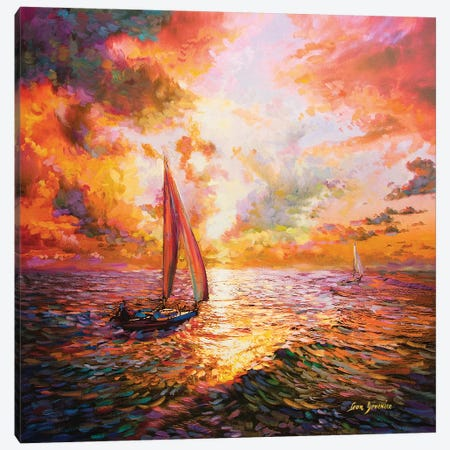 Adventurous Spirit Canvas Print #DVI9} by Leon Devenice Art Print