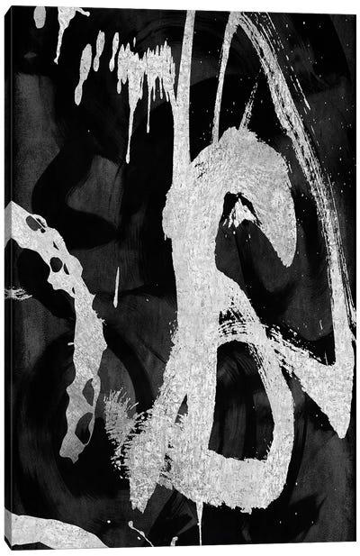 Rambunctious Silver I Canvas Art Print