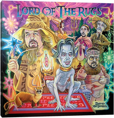 Lord Of The Rugs Canvas Art Print