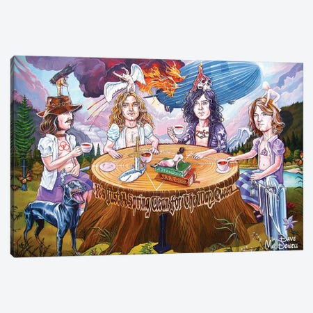Riding The Zep Canvas Print #DVM19} by Dave MacDowell Canvas Wall Art