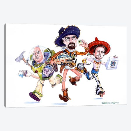 Breaking Toys Canvas Print #DVM35} by Dave MacDowell Art Print