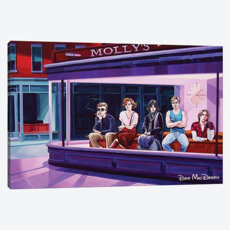 Breakfast Hawks Canvas Print #DVM3} by Dave MacDowell Canvas Print