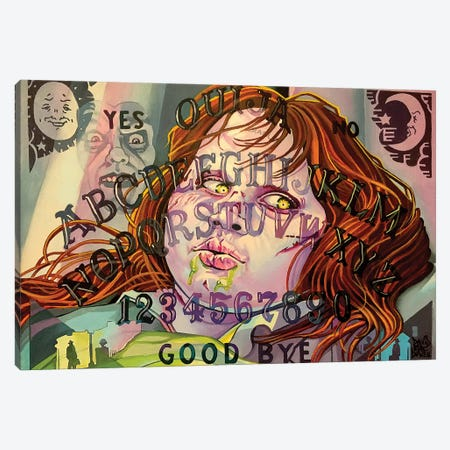Exorcist Ouija Board Canvas Print #DVM6} by Dave MacDowell Canvas Wall Art