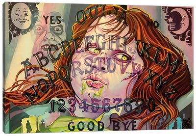 Exorcist Ouija Board Canvas Art Print