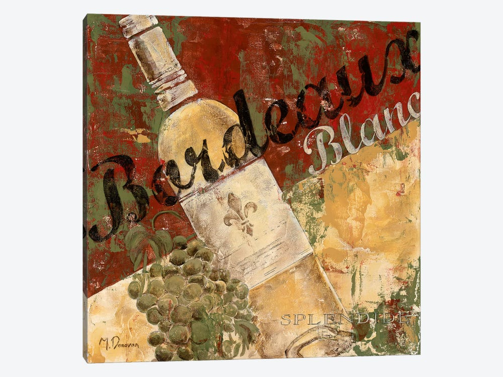 Bordeaux Blanc by Maria Donovan 1-piece Canvas Art