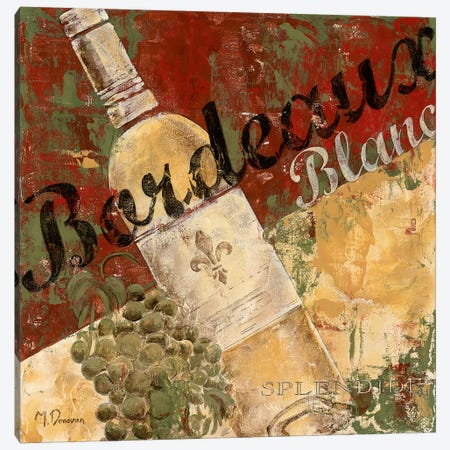 Bordeaux Blanc Canvas Print #DVN11} by Maria Donovan Canvas Print