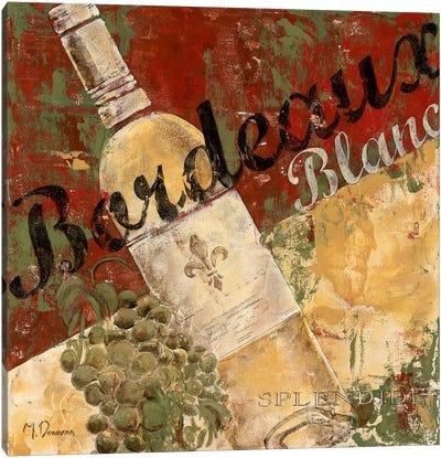 Bordeaux Blanc Canvas Art Print