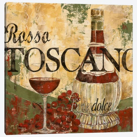 Rosso Tosano Canvas Print #DVN14} by Maria Donovan Canvas Wall Art