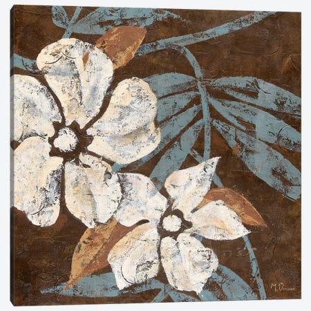 Flowers on Chocolate I Canvas Print #DVN18} by Maria Donovan Canvas Print