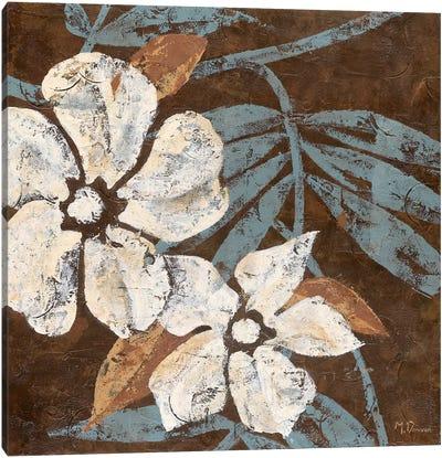 Flowers on Chocolate I Canvas Art Print