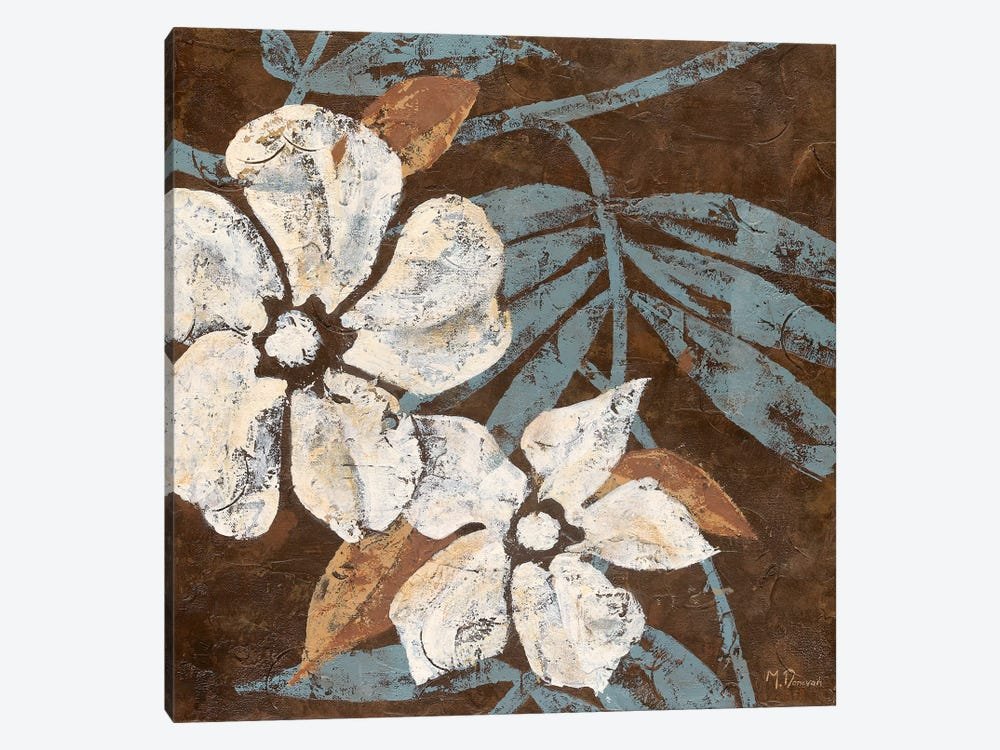Flowers on Chocolate I by Maria Donovan 1-piece Canvas Art Print