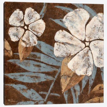 Flowers on Chocolate II Canvas Print #DVN19} by Maria Donovan Art Print
