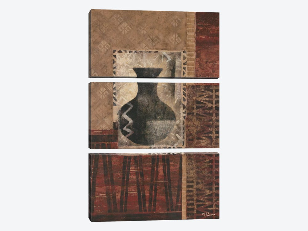 Artifact Revival I by Maria Donovan 3-piece Canvas Print