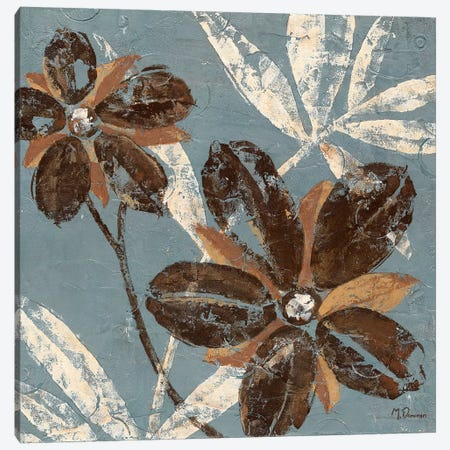 Flowers on Chocolate III Canvas Print #DVN20} by Maria Donovan Canvas Artwork