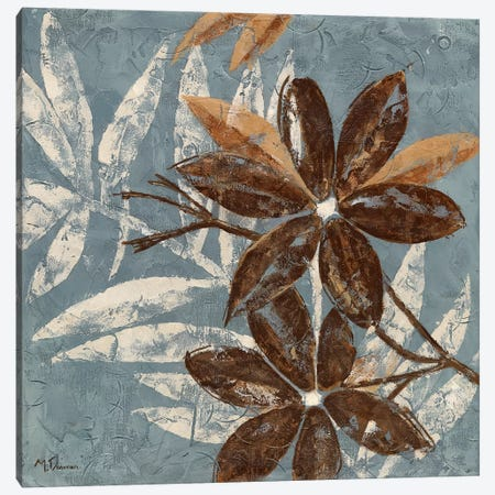 Flowers on Chocolate IV Canvas Print #DVN21} by Maria Donovan Canvas Wall Art
