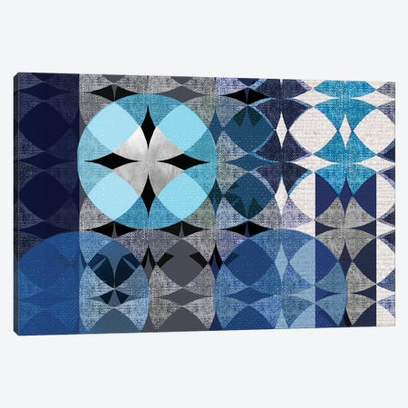 Modern Quilt Canvas Print #DVN5} by Maria Donovan Canvas Art Print
