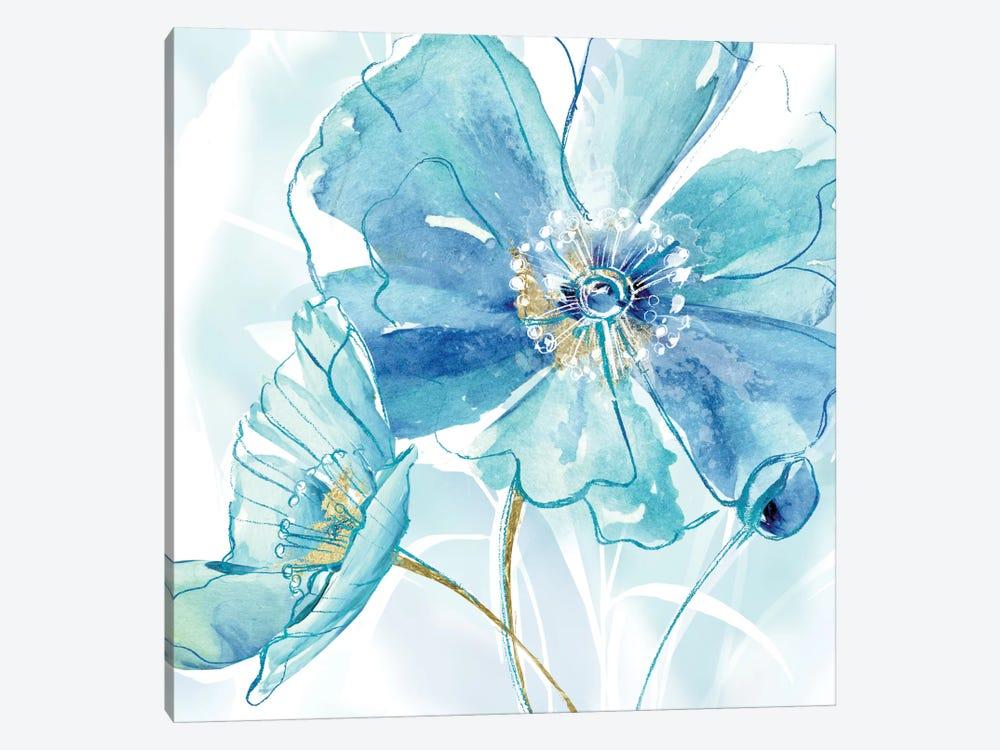 Blue Spring Poppy I by Maria Donovan 1-piece Canvas Art