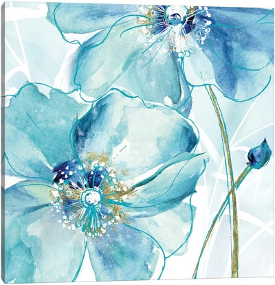 Blue Spring Poppy II Canvas Art Print