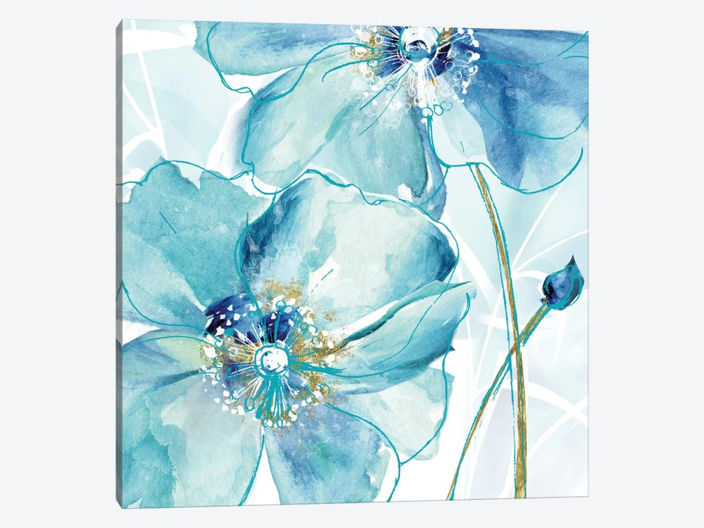 Blue Spring Poppy II by Maria Donovan 1-piece Art Print