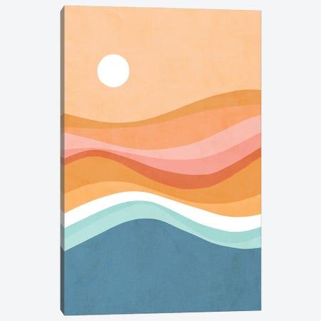 Rainbow Waves Seascape Canvas Print #DVR100} by Dominique Vari Canvas Artwork