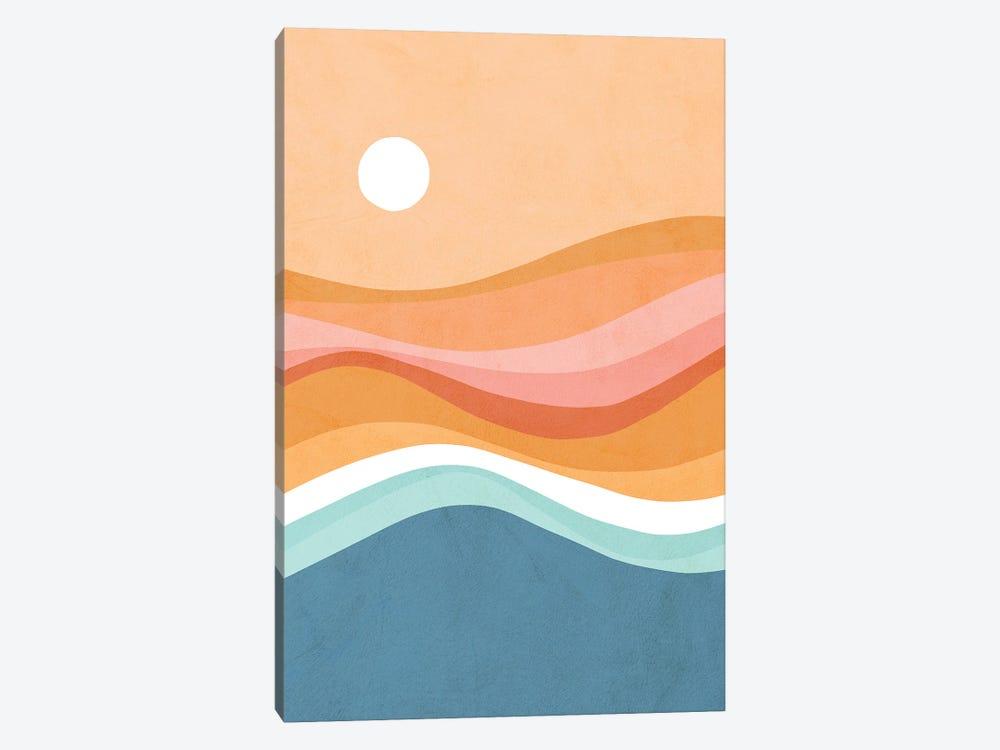 Rainbow Waves Seascape by Dominique Vari 1-piece Canvas Print