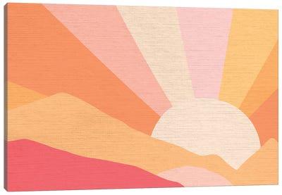 Retro Rainbow Landscape I Canvas Art Print