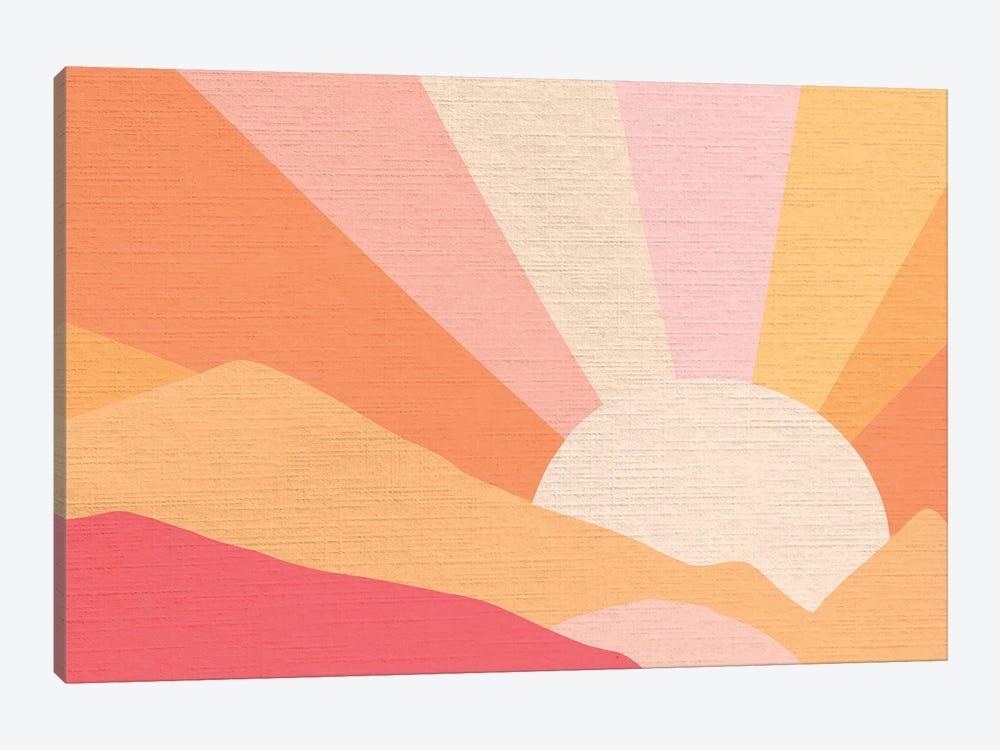 Retro Rainbow Landscape I by Dominique Vari 1-piece Art Print