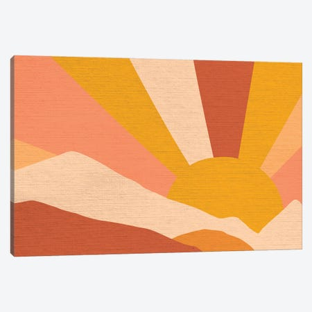 Retro Rainbow Landscape II Canvas Print #DVR105} by Dominique Vari Art Print