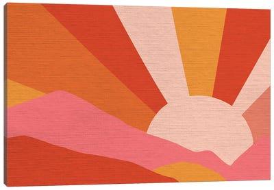 Retro Rainbow Landscape III Canvas Art Print