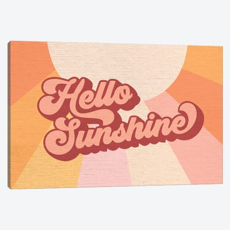 Retro Rainbow Sunshine I Canvas Print #DVR108} by Dominique Vari Canvas Wall Art
