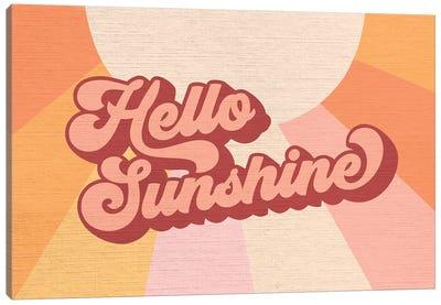 Retro Rainbow Sunshine I Canvas Art Print