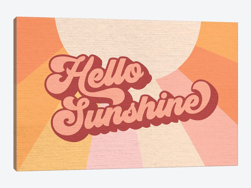Retro Rainbow Sunshine I by Dominique Vari 1-piece Art Print