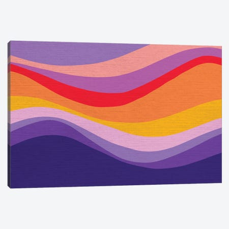 Retro Rainbow Wave I Canvas Print #DVR111} by Dominique Vari Canvas Print