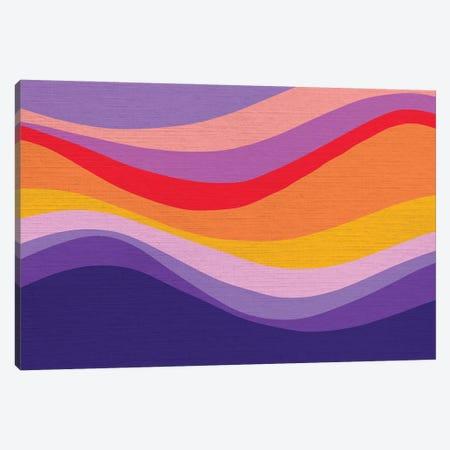 Retro Rainbow Wave I Canvas Print #DVR111} by Dominique Vari Canvas Print