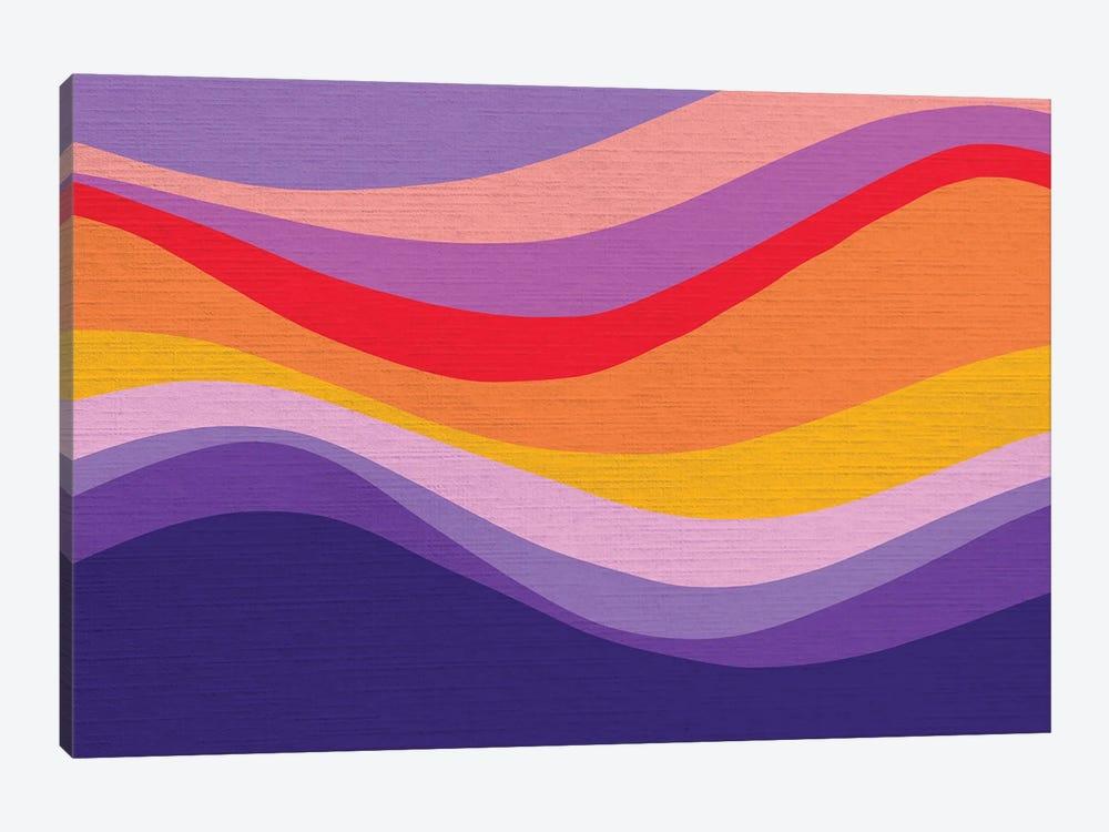 Retro Rainbow Wave I by Dominique Vari 1-piece Art Print