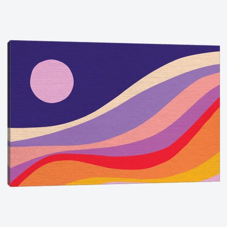 Retro Rainbow Wave II Canvas Print #DVR112} by Dominique Vari Art Print