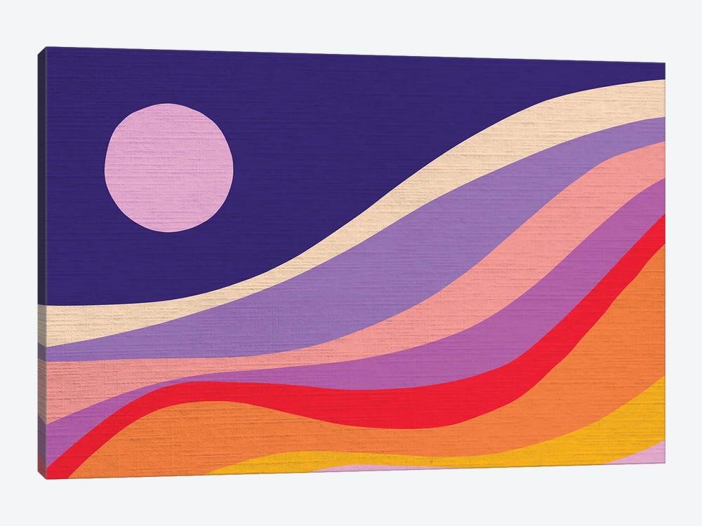 Retro Rainbow Wave II by Dominique Vari 1-piece Canvas Art