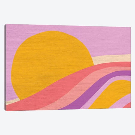 Retro Rainbow Wave III Canvas Print #DVR113} by Dominique Vari Art Print