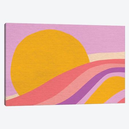 Retro Rainbow Wave III Canvas Print #DVR113} by Dominique Vari Art Print