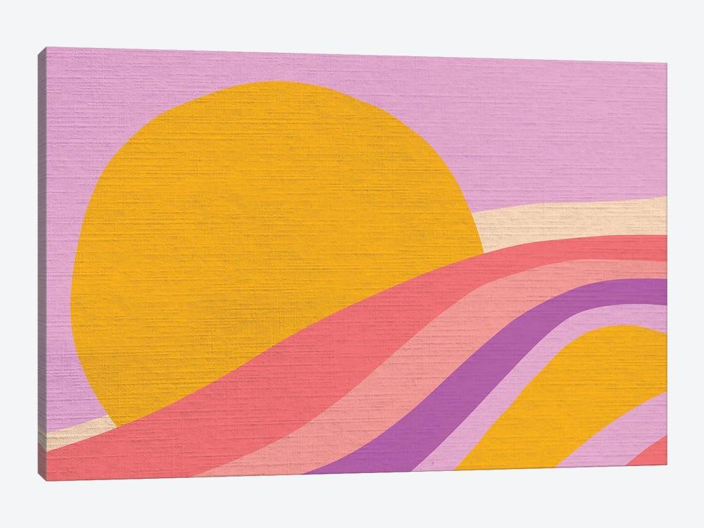 Retro Rainbow Wave III by Dominique Vari 1-piece Canvas Print