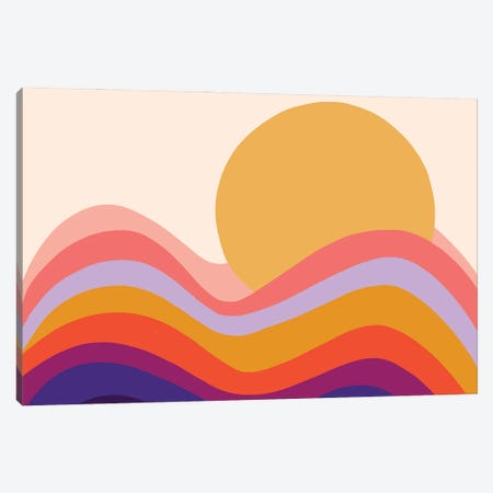 Retro Waves II Canvas Print #DVR117} by Dominique Vari Canvas Wall Art